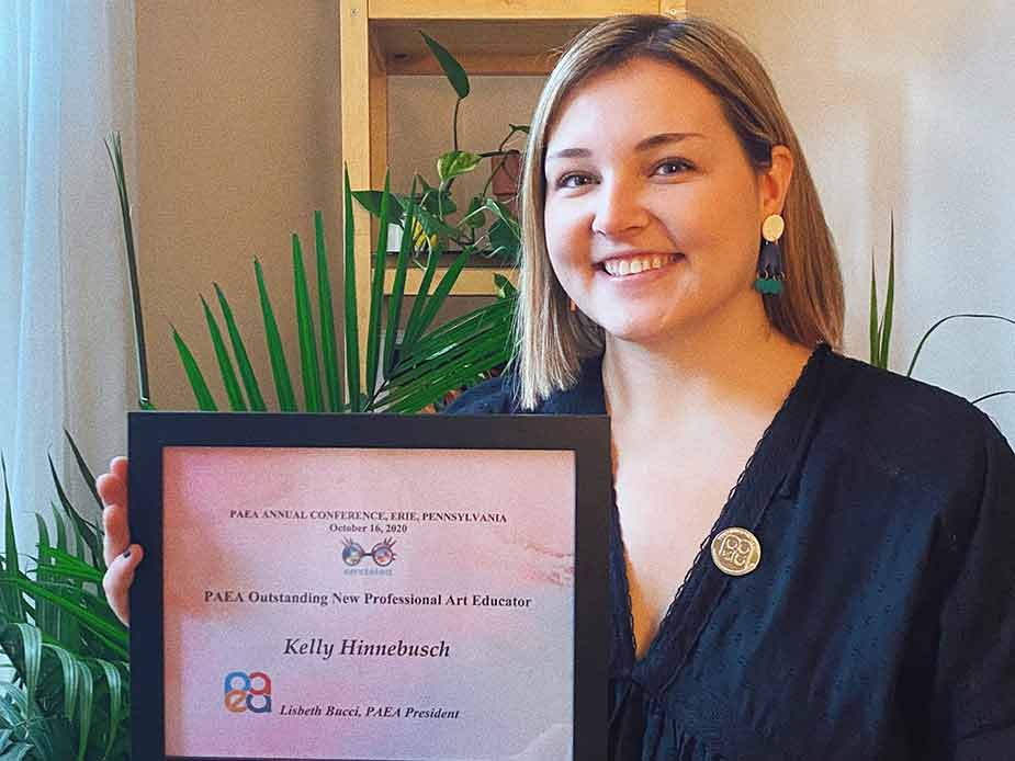 Edinboro grad receives state Outstanding New Professional award in art education