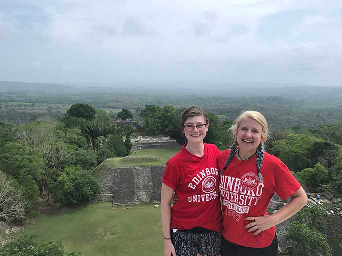 EU students discovering international culture in Belize